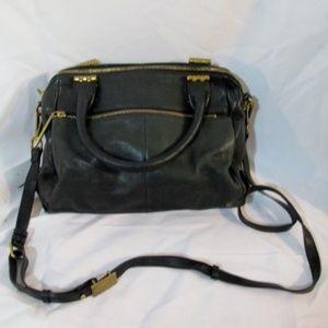 ELLIOTT LUCCA Leather Hobo Shoulder Bag Tote